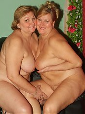 Anna and Yolanda are horny mature plumpers enjoying a nice lesbian scene in the kitchen